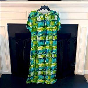Vintage Vangelis Blue Green Dress